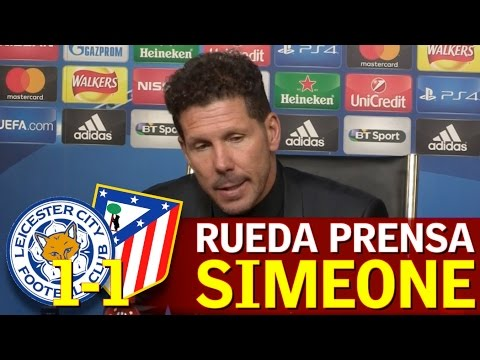 Leicester 1-1 Atlético | Rueda de prensa de Simeone | Diario AS