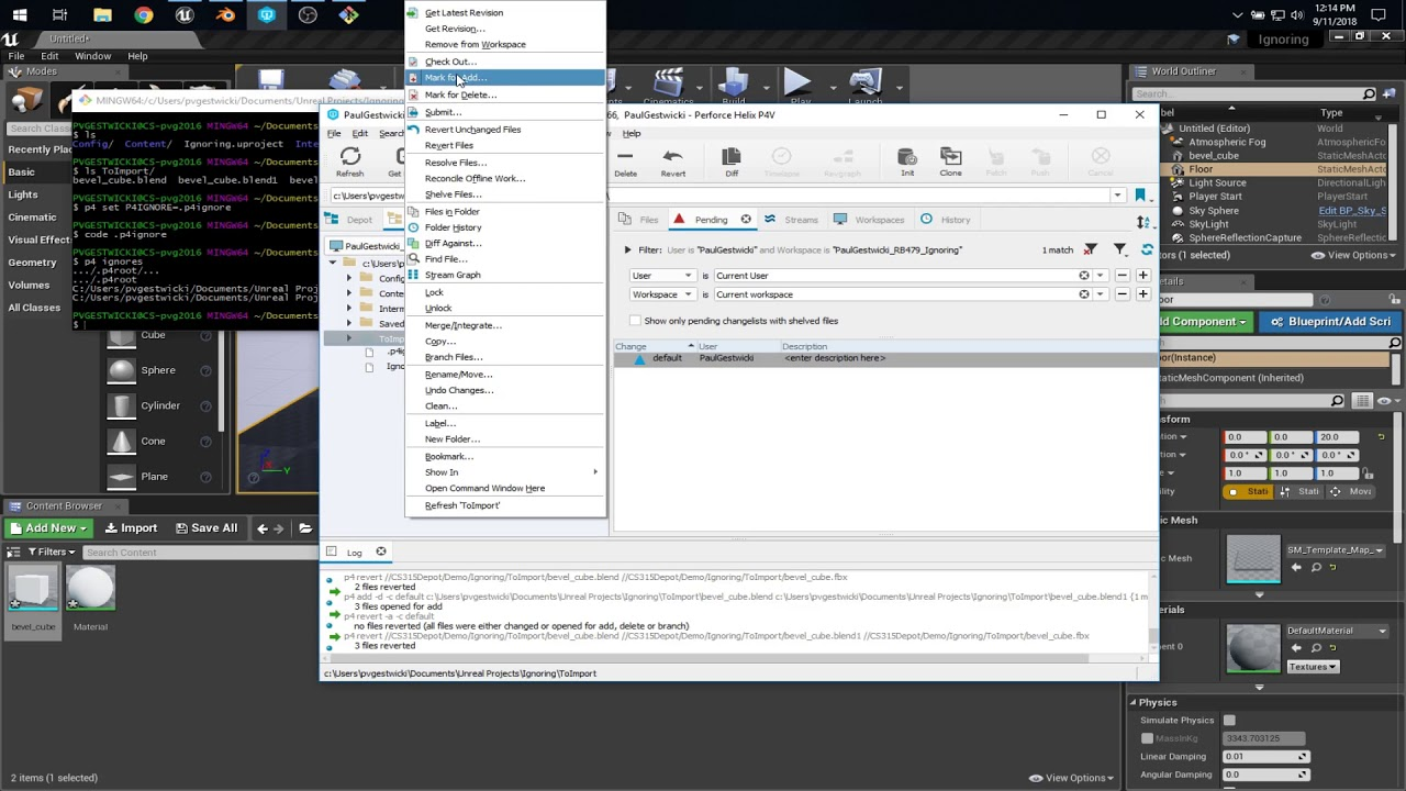 Using p4ignore to prevent files from being tracked in Perforce