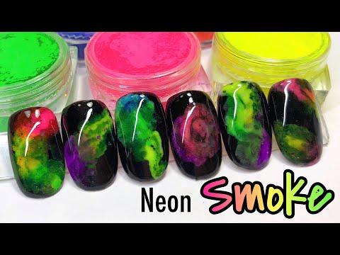 Efecto Humo Neon - Smoke Nails
