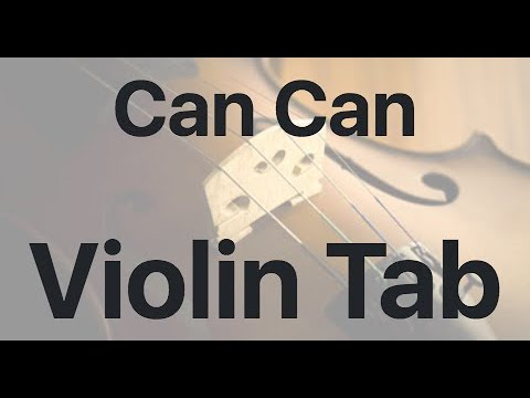 Learn Can Can on Violin - How to Play Tutorial