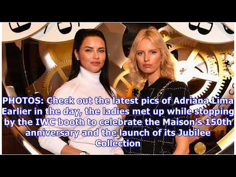 Adriana lima & karolina kurkova have a glamorous geneva day with iwc