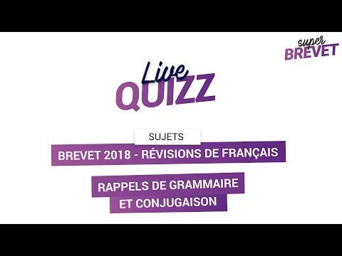 Brevet 2018 - Révisions de Français : Rappels de grammaire et conjugaison