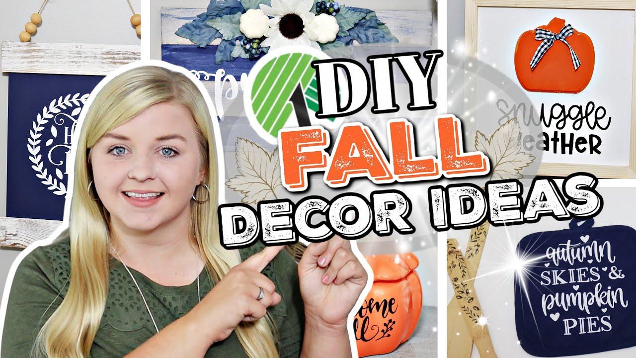 Dollar Tree Fall DIYS 2021 (Not Tacky!) NEW Fall DIYS Using CRCIUT MAKER! Krafts by Katelyn