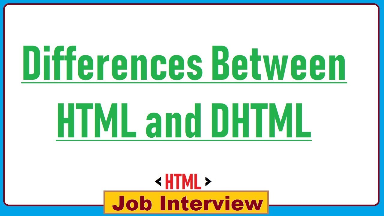 Dynamic HTML (DHTML) - portablecontacts net
