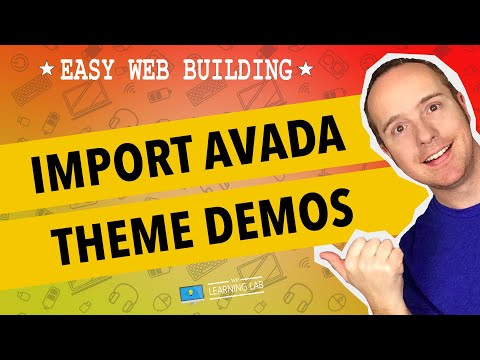 WordPress Avada Theme Demo Content: What Is It & How To Use It (Avada Theme) | WP Learning Lab