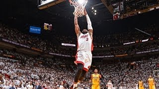 Dwayne wade's coast-to-coast slam dunk!