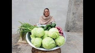 वेज मंचूरियन बनाने का सबसे आसान तरीका | Cabbage Manchurian | Dry Manchurian | village life | recipe