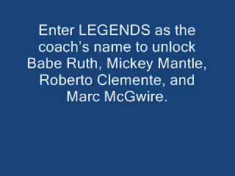Backyard Baseball 2003 Cheats Unlocking 4 Characters