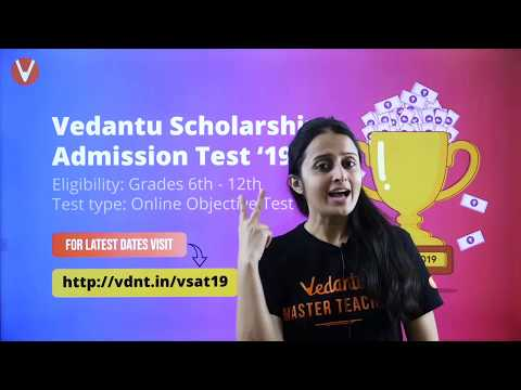 Vedantu VSAT Exam Introduction & Paper Pattern Explanation | Online Scholarship & Admission Test
