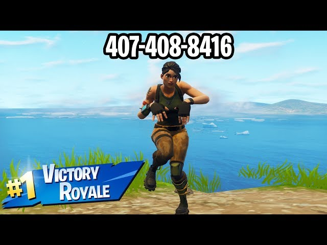 I put my PHONE NUMBER in my Fortnite Name... and WON a Game of FORTNITE!