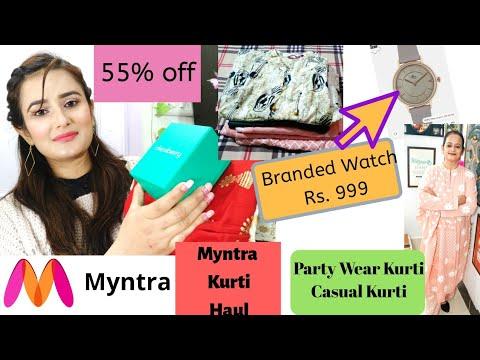 Myntra Party Wear & Casual Wear Kurti / OMG😲Branded Watch⌚ In Just Rs.999 Only 🤗/ SWATI BHAMBRA