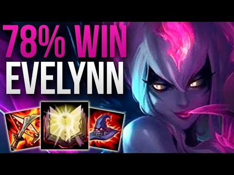 HE GOT HIGH CHALLENGER WITH 78% EVELYNN WIN RATE   CHALLENGER EVELYNN TOP GAMEPLAY   9.10 S9