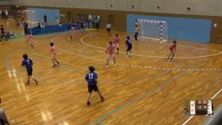 6日 ハンドボール女子 国体記念体育館Dコート 湯沢×明光学園 2回戦 2