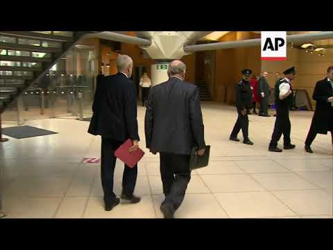 Corbyn leaving after meeting UK PM May