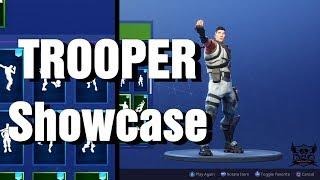 Fortnite TROOPER Skin Showcase