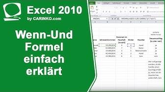 Excel Wenn-Und-Formel einfach erklärt  - carinko.com