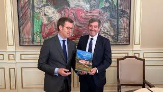 Feijóo recibe al presidente de Canarias, Fernando Clavijo