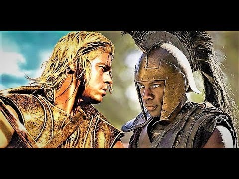 Both Fight Scenes Of Achilles Vs Hector (TV Show And Movie) HD