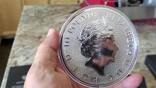Monedas de 10 oz de plata