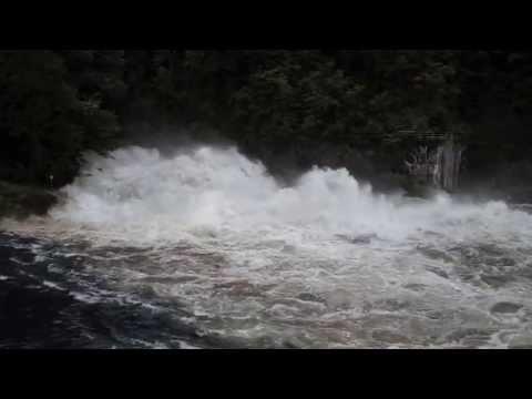 Fontana Dam Spillway Water Release July 5, 2013