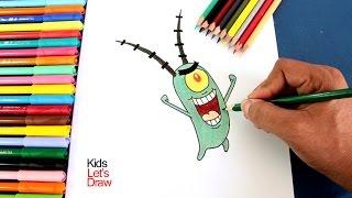 Cómo dibujar a PLANKTON (Bob Esponja) | How to draw Plankton (SpongeBob SquarePants)