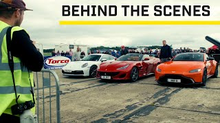 MAKING OF: Sports cars at Top Speed Tuesday | Top Gear: Series 28