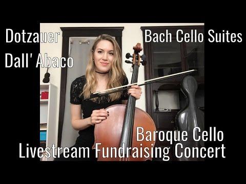 Baroque Cello Fundraising Concert - Bach Cello Suite no. 1, Dotzauer Etudes, Dall'Abaco, Vitali