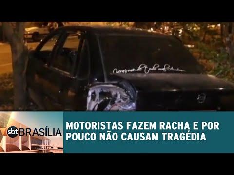 Motoristas fazem racha e por pouco não causam tragédia | SBT Brasília 18/06/2018