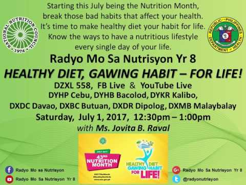 """Healthy Diet, Gawing Habit - For Life!"" sa Radyo Mo Sa Nutrisyon Yr 8"