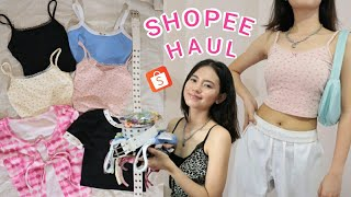 SHOPEE HAUL ~♥~ (aesthetic tops, thrift flip things, accessory) part 3