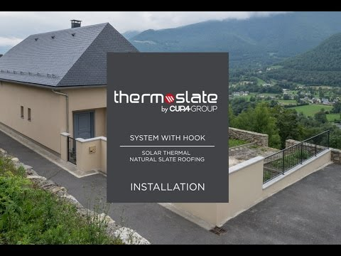 How to install a solar thermal slate roofing? (System with hook)