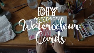 DIY Easy Peasy Watercolour Cards