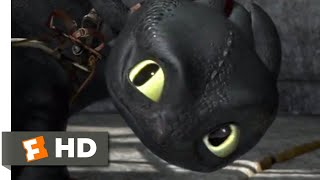 How to Train Your Dragon - Toothless Saves Hiccup Scene | Fandango Family