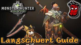 Monster Hunter World: Langschwert (Long Sword) Tutorial / Guide | Gameplay [German Deutsch]