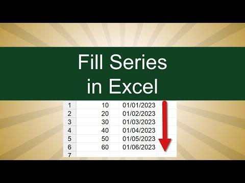 Excel - Increase Series of Number