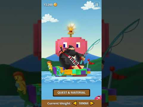 Ninja Fishing: Ep 57 (Catching Minecraft Diamond Pickaxe)