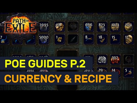 POE Currency Value & Recipe Vendor TIps! Beginner's Guide Series! | POE Guides