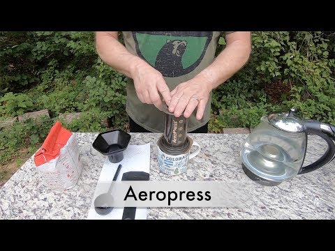 How to use the AeroPress to make great tasting coffee -  Camp Coffee