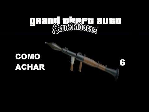 GTA San Andreas - Como Achar 6 Bazooka RPG (Arma)