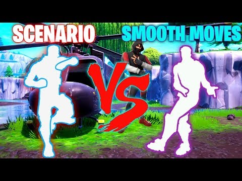FORTNITE SCENARIO EMOTE VS SMOOTH MOVES EMOTE!!!