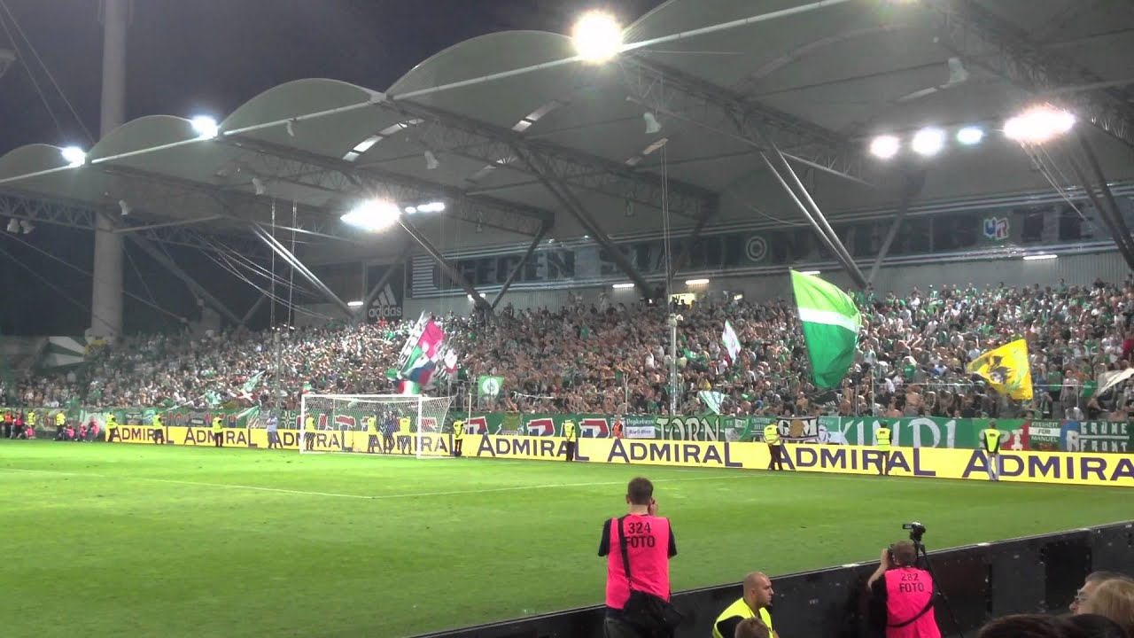 Sk Rapid Wien 3 Vs 0 Saloniki 30 08 2012 Crazy Youtube