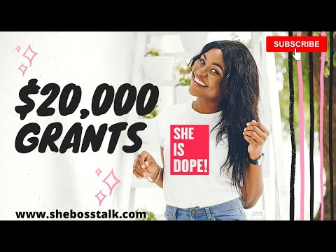 $20,000 SMALL BUSINESS GRANT😀🔥| GET FREE MONEY BEFORE DEADLINE | SHE BOSS TALK from YouTube · Duration:  21 minutes 12 seconds