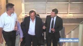 Michel Platini en visite à l'Allianz Riviera