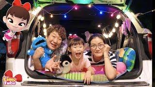 아빠 캠핑장 가요~! 포드 익스플로러 타고 가을 여행 떠나요 안전운전 캠페인 LimeTube toy review 라임튜브