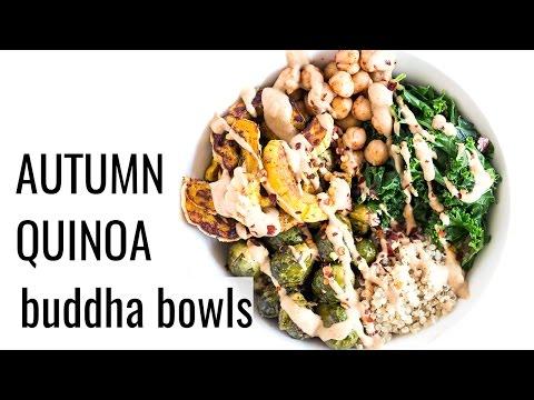 AUTUMN HARVEST QUINOA BOWLS   vegan meal prep recipe