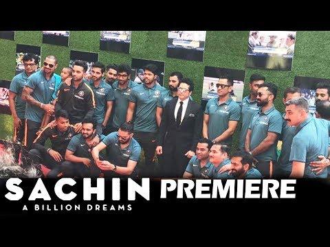Indian Cricket Team Attends Sachin A Billion Dreams Premiere