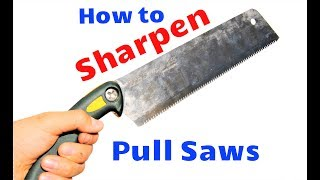 How to Sharpen Japanese Pull Saws (Don't tell me it's impossible!)