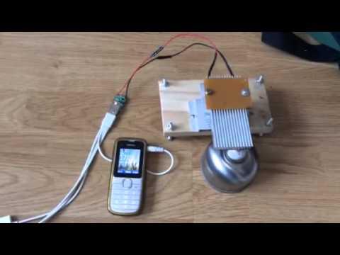 ชุดคิทผลิตไฟฟ้าจากความร้อน เอามาชาร์จมือถือ Nokia