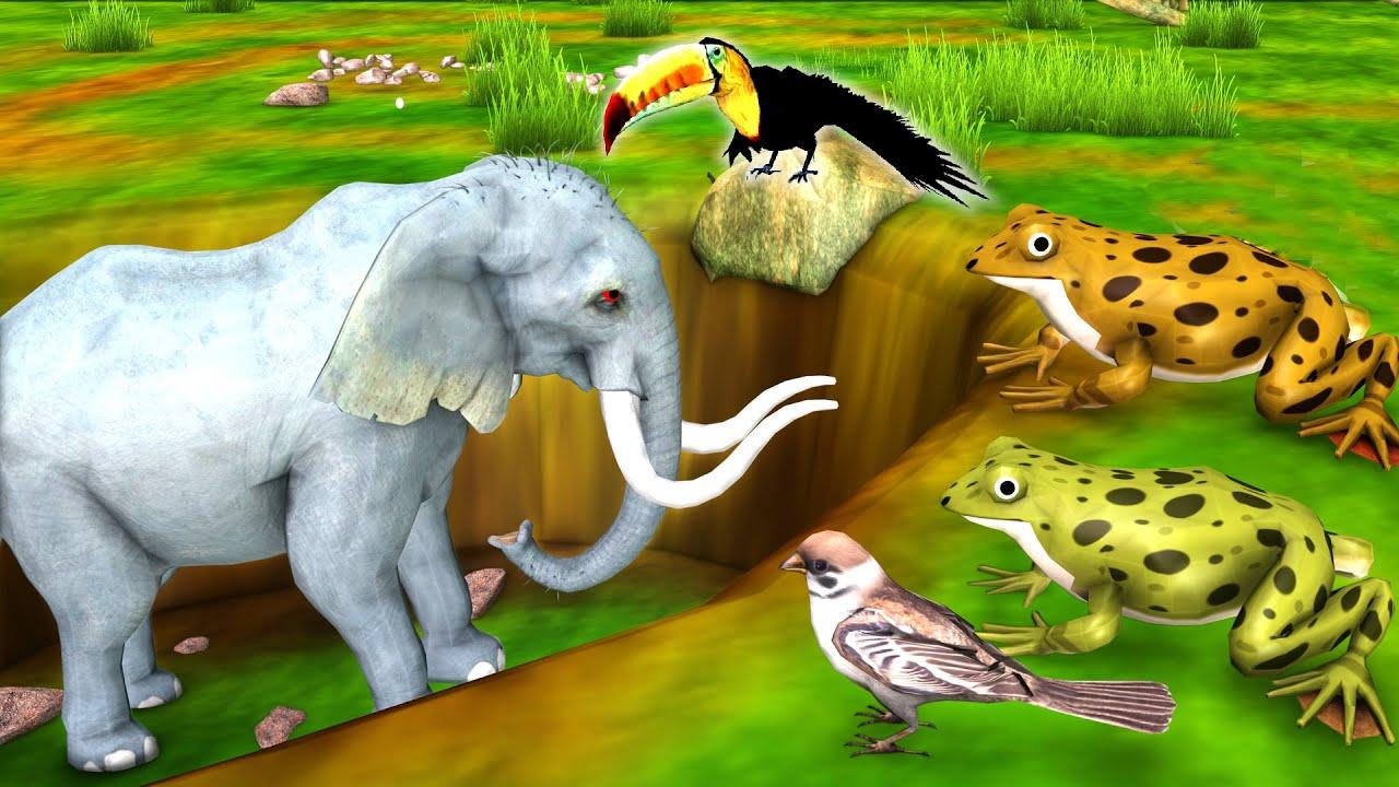 पगल हाथी और चिडिया मेंडक Kahani - Panchatantra Moral Stories - 3D Hindi Fairy Tales
