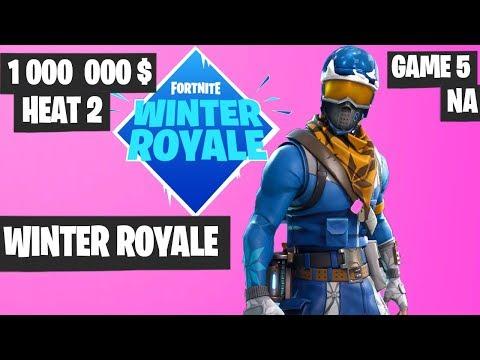 Fortnite Winter Royale Semifinal Heat 2 Game 5 NA Highlights [Fortnite Tournament 2018]